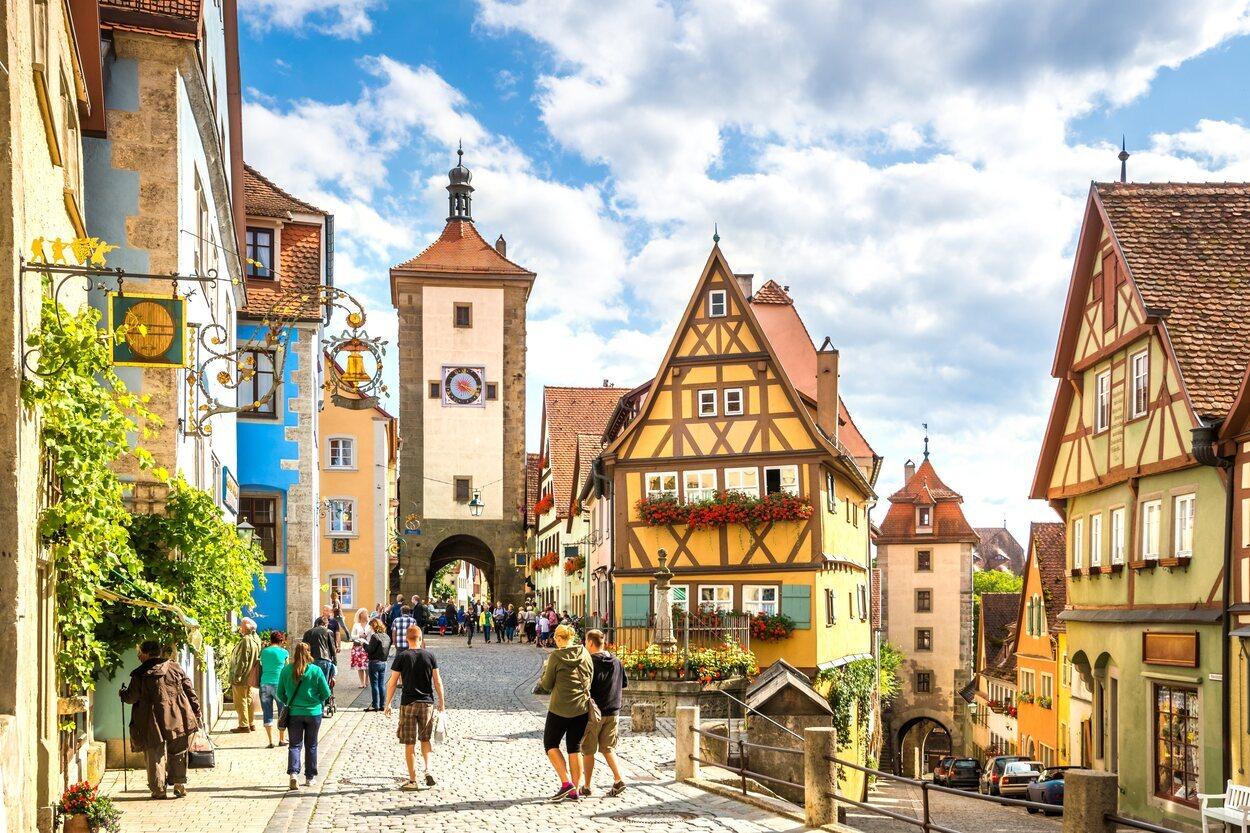 Rothenburg ob der Tauber es una ciudad medieval