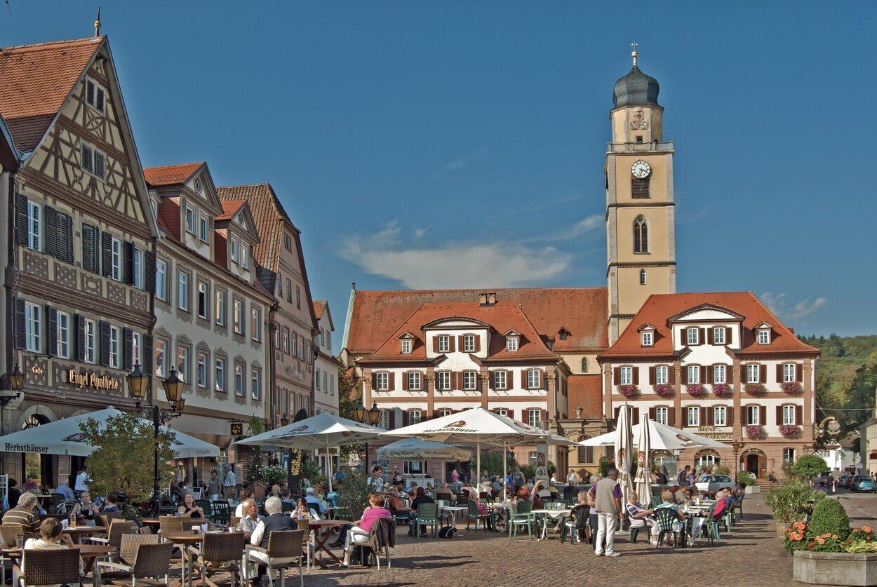 Plaza comercial de la ciudad de Bad Mergentheim