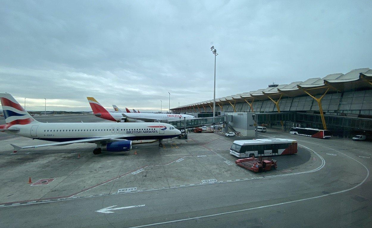 Las vistas desde la Sala VIP de Iberia.