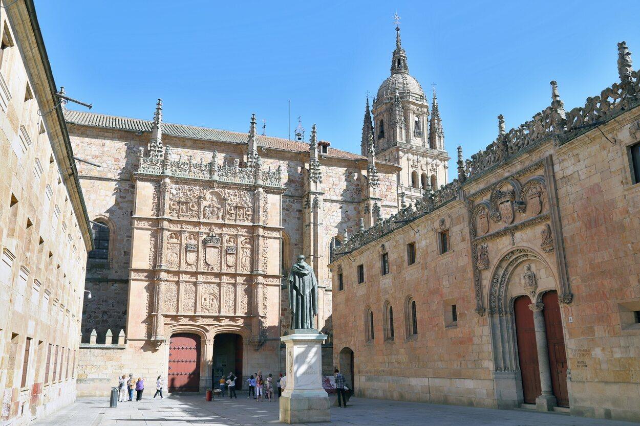 Patio de las Escuelas de la Universidad de Salamanca