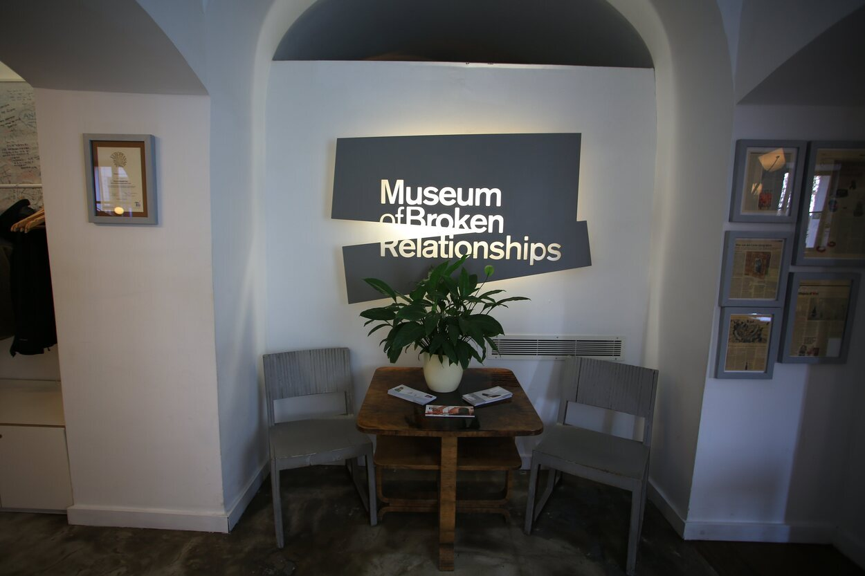 Museo de las relaciones rotas en Zagreb, Croacia