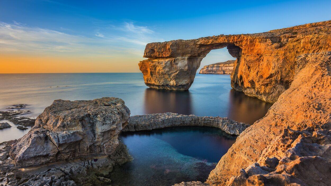La Ventana Azul, un arco natural que estaba situado en la isla de Gozo