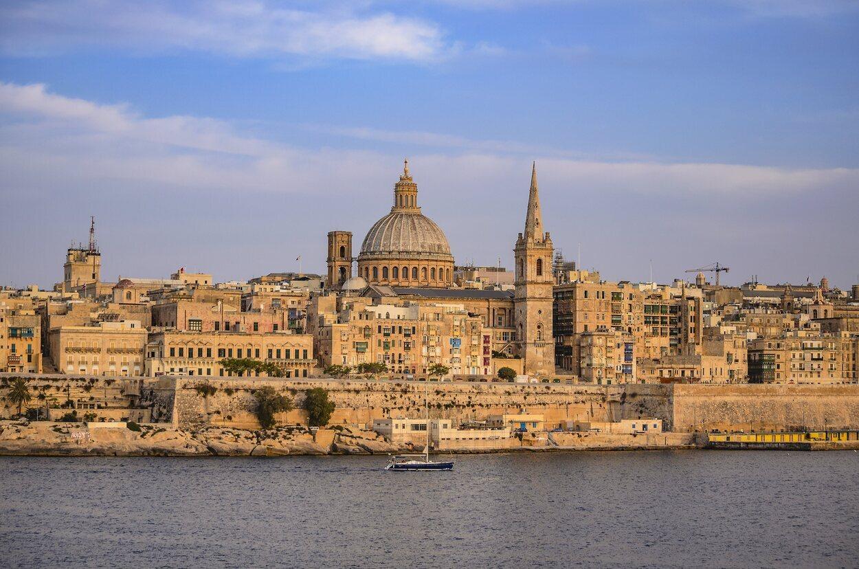 Vista panorámica de La Valeta, en Malta