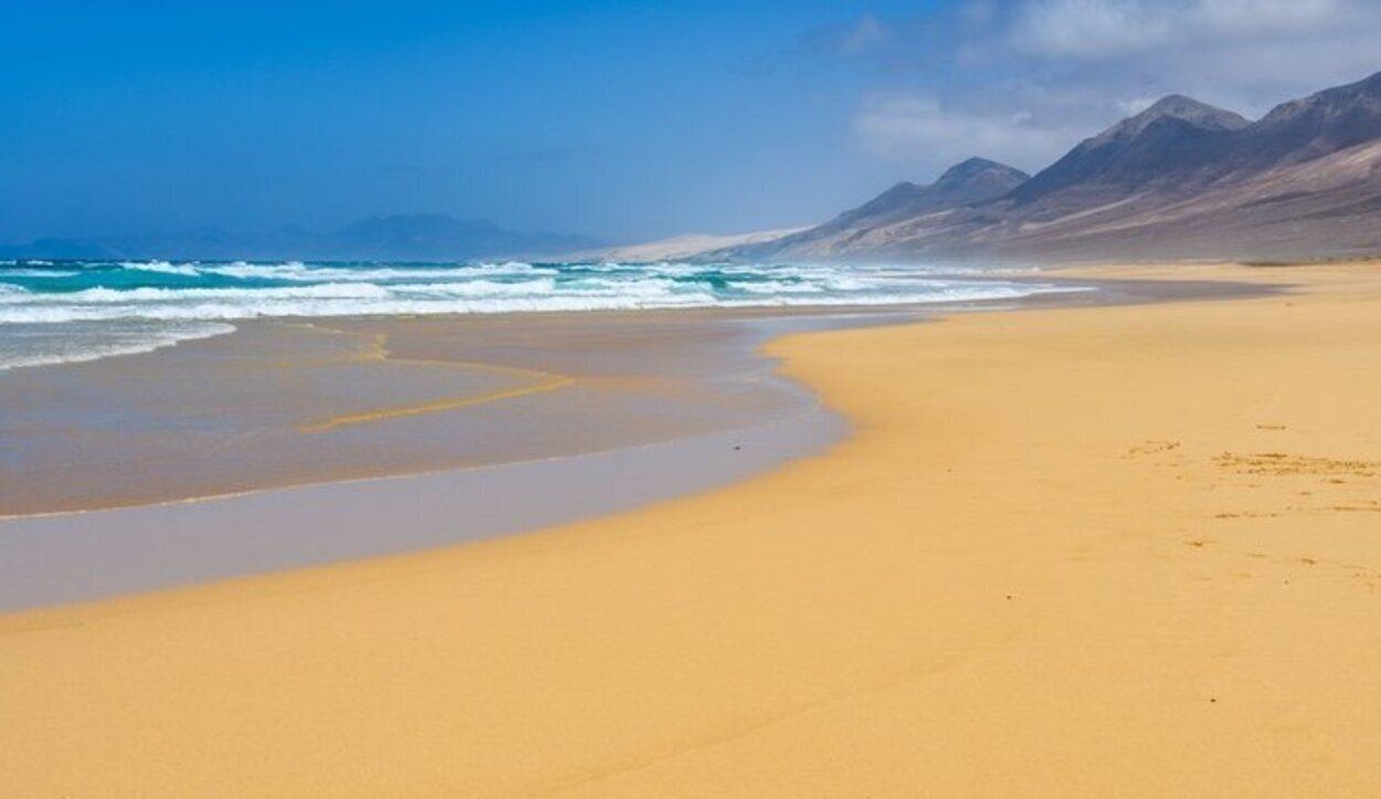 Playa de Cofete, popular por la suelta de tortugas marinas