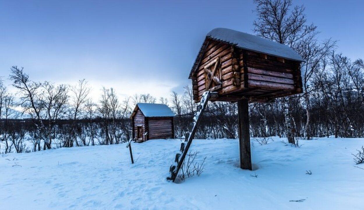 Un campamento Sami en mitad de la nada