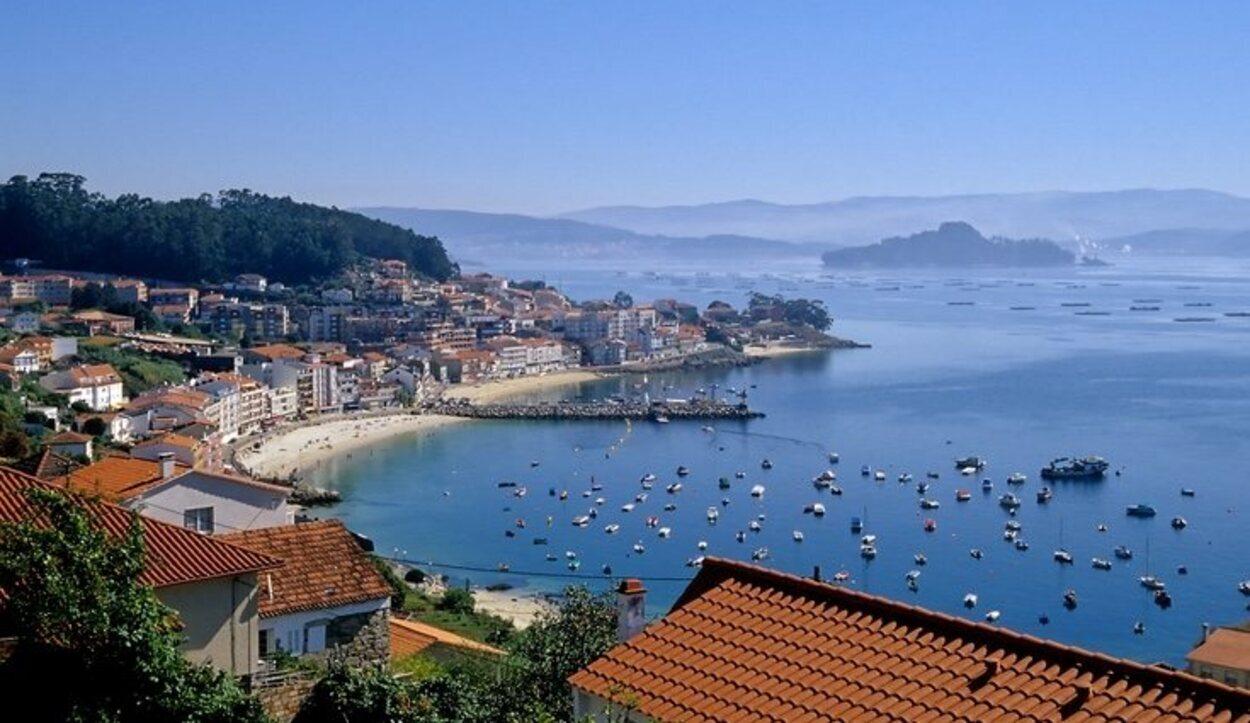 Vistas desde el mirador da Granxa en Combarro (Pontevedra, Galicia)