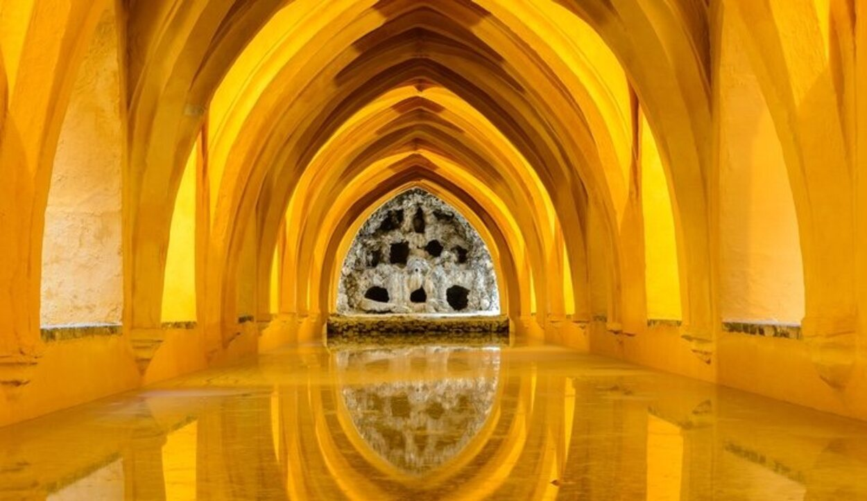Uno de los interiores del Real Alcázar de Sevilla
