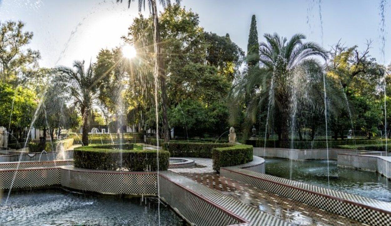 Una de las partes del interior del Parque de María Luisa