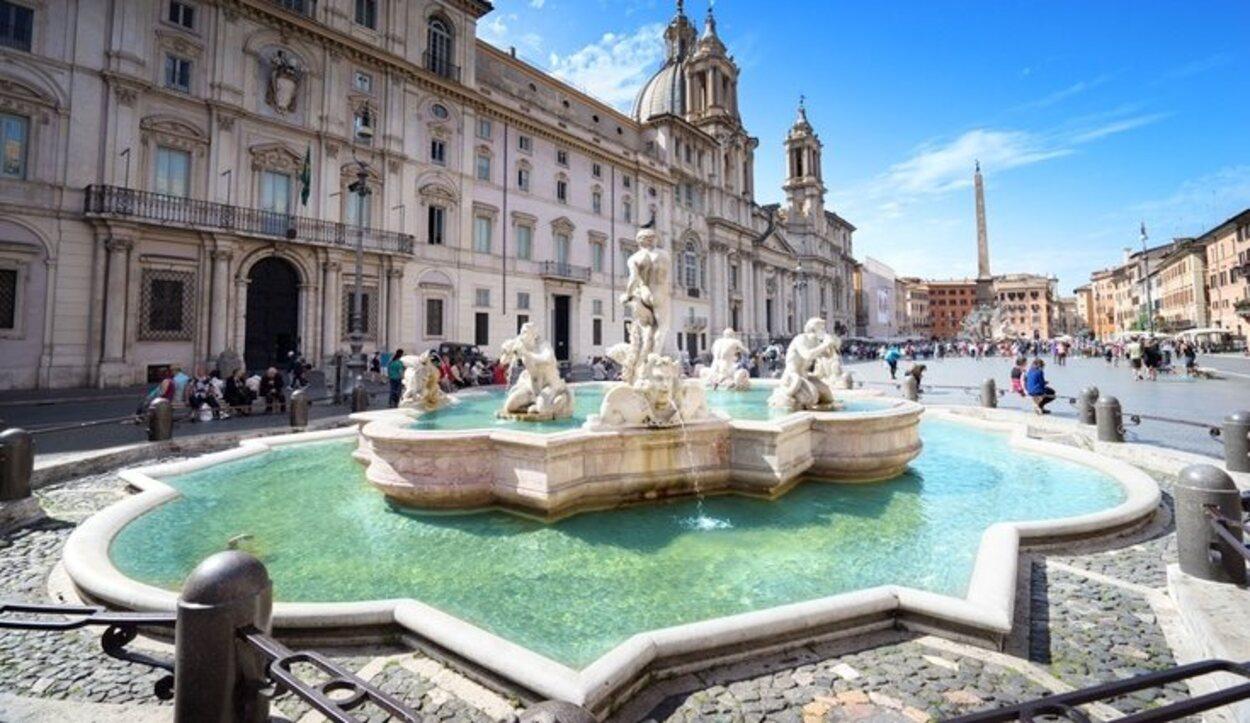 La Piazza Navona es una de las plazas romanas con mayor número de turistas