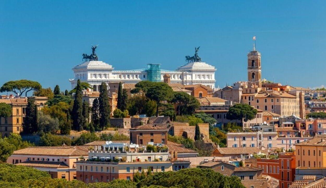 Vista de la ciudad de Roma desde el Monte Aventino