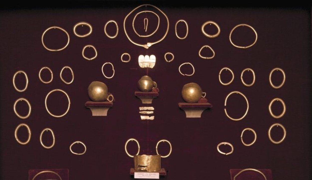 Piezas de oro conservadas en el Museo de Pontevedra