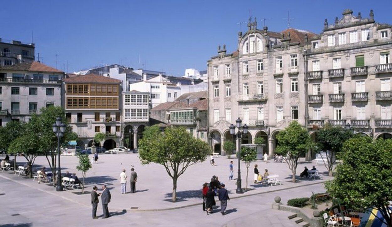 La Plaza de A Ferrería es el centro de la vida social pontevedresa