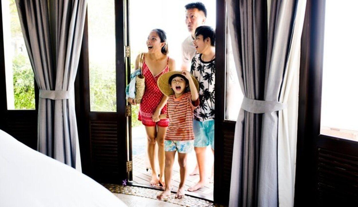 Cuando eres pequeño lo más común es viajar con tu familia