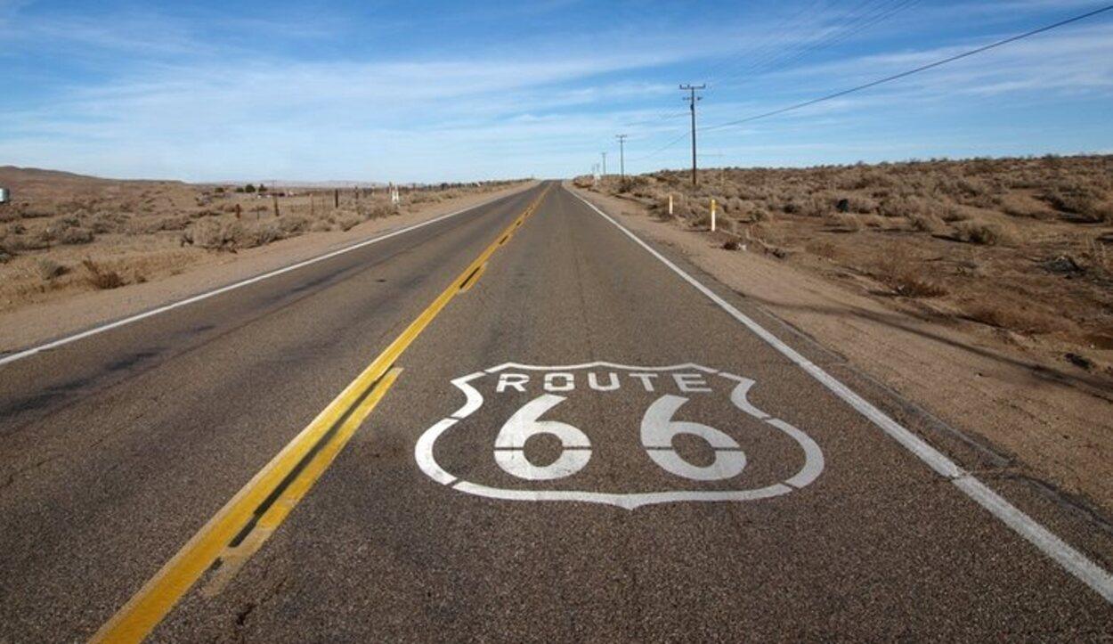 El clásico símbolo de la Ruta 66
