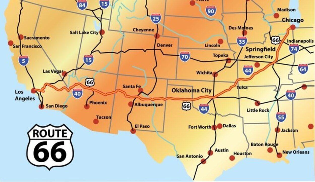 La ruta atraviesa todo el país estadounidense