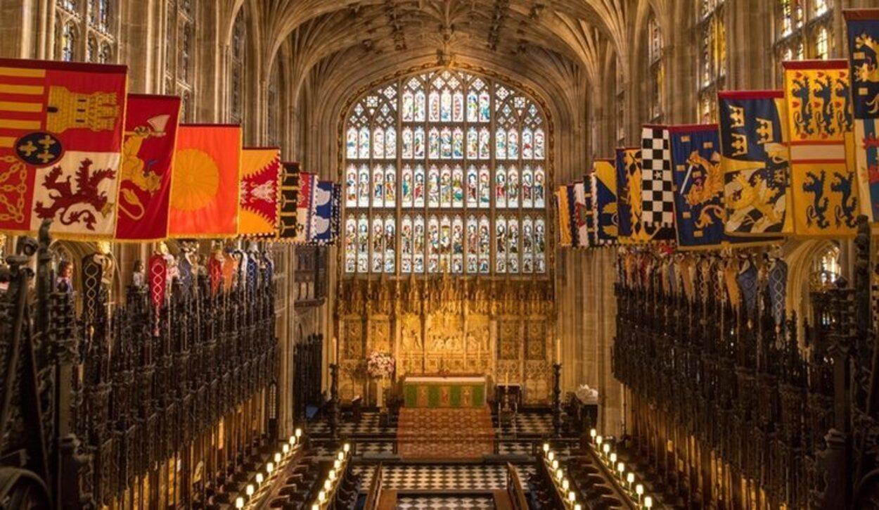 Interior de la Capilla de San Jorge del Castillo de Windsor