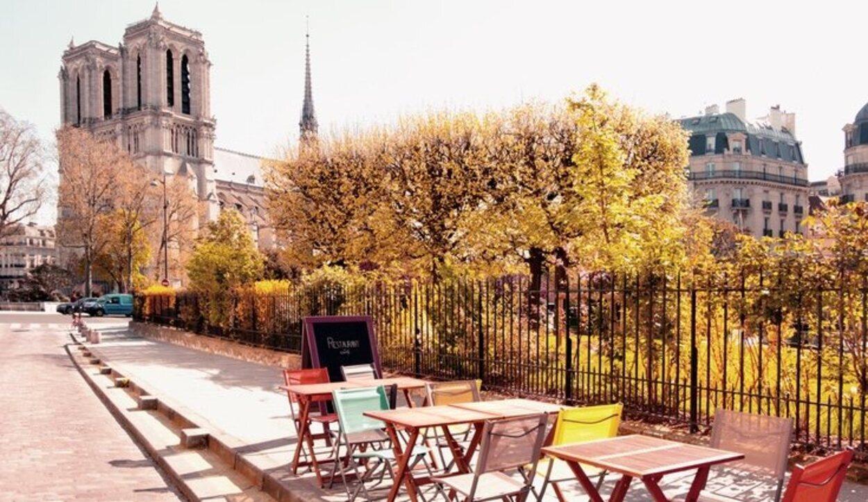 El Barrio latino está muy pegado a la Catedral de Notre Dame