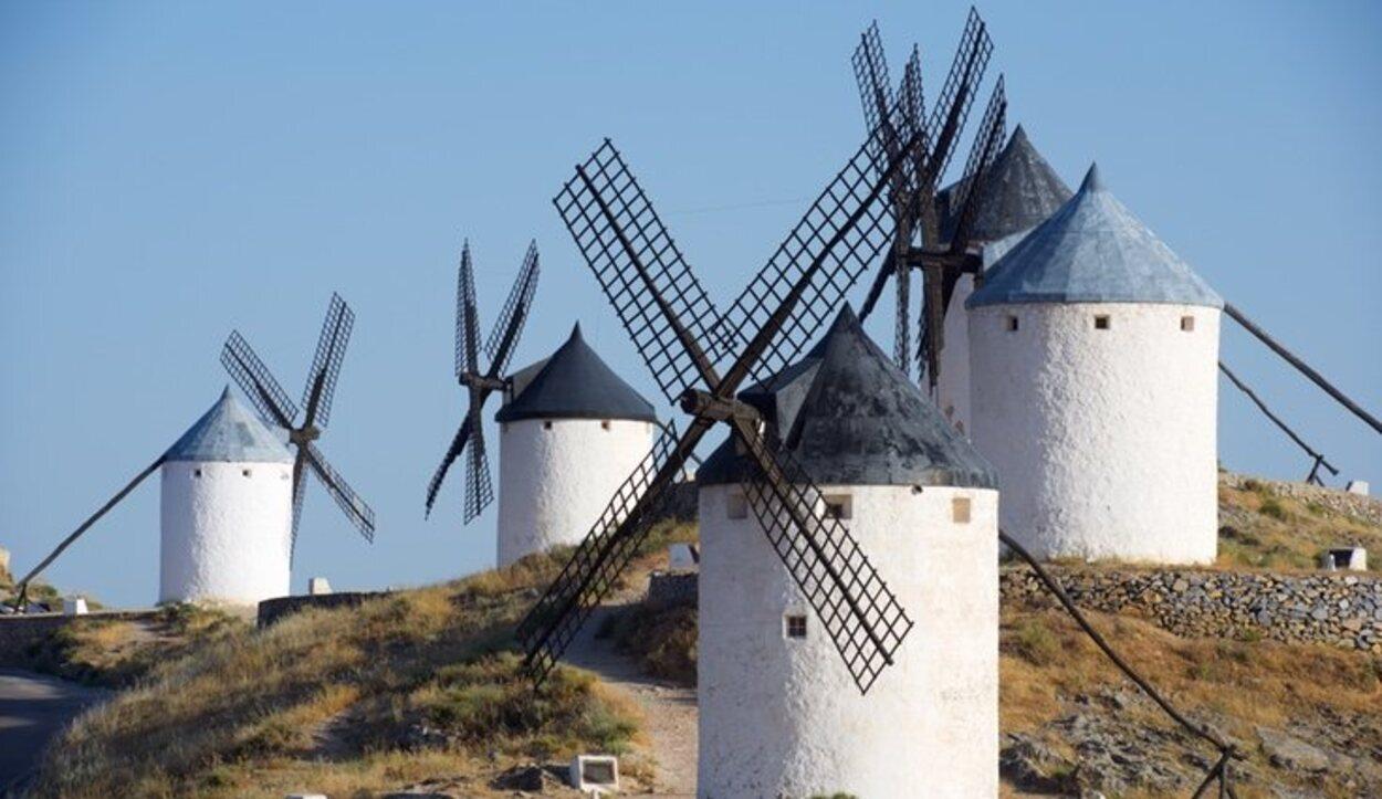 Los molinos eran una de las obsesiones del personaje Don Quijote