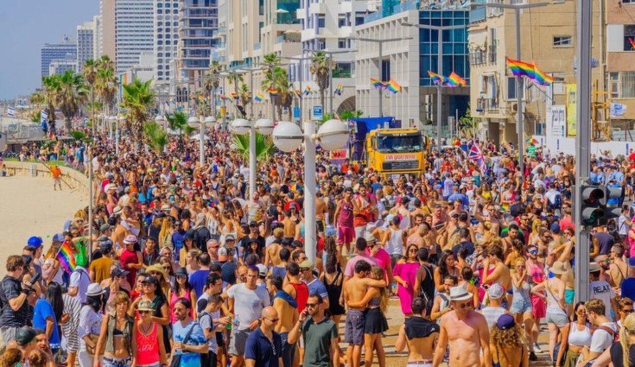 El desfile del orgullo gay de Tel Aviv es de los más reconocidos en el mundo