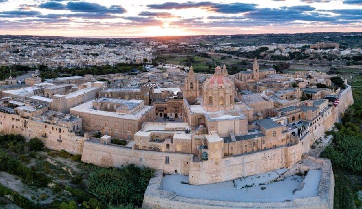 La famosa ciudad amurallada de Mdina