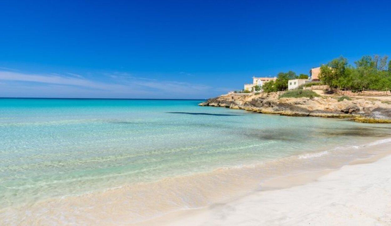 Playa de Es Trenc, en Campos, Mallorca