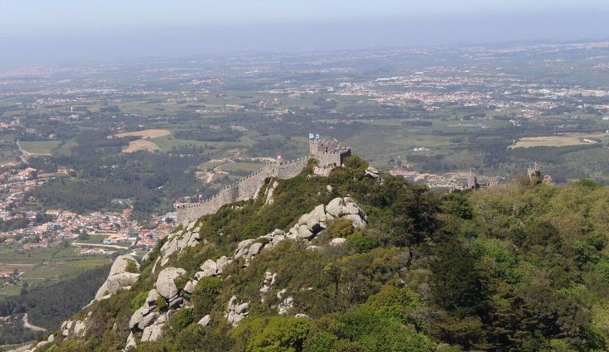 El guardián de la Sierra de Sintra desde el cielo