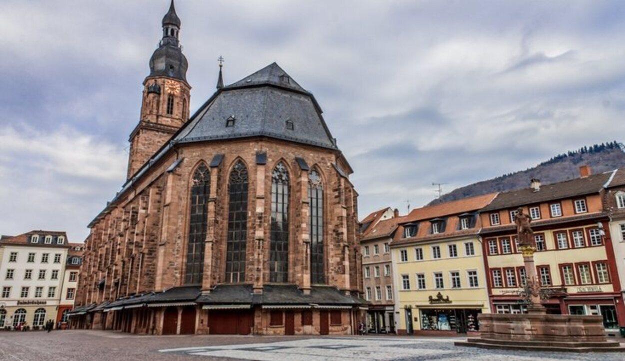La iglesia más popular de la ciudad de Heidelberg