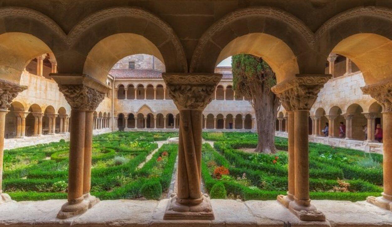 El interior del Monasterio de Santo Domingo de Silos en Burgos
