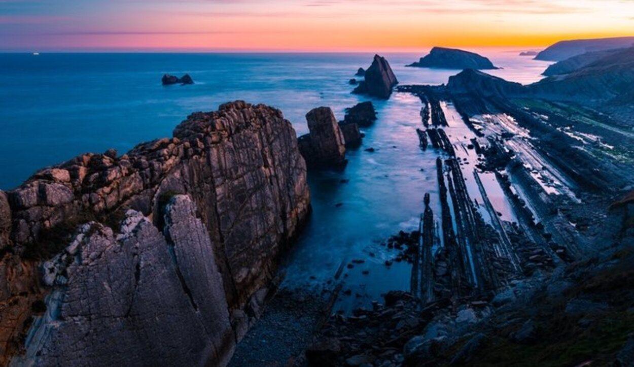 Playa de Arnia en Liencres, Cantabria
