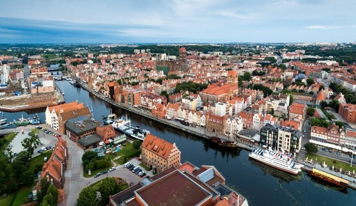 Vista aérea de la ciudad de Gdansk