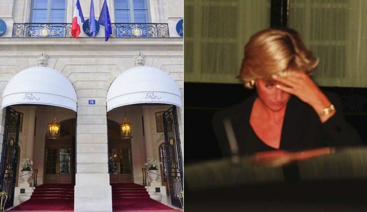 La última vez que se vio con vida a Lady Di fue saliendo del Ritz en París