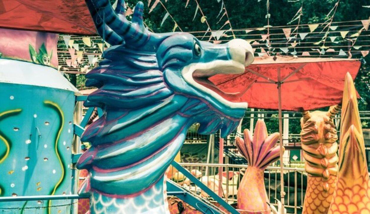 La escultura de un dragón en Handan