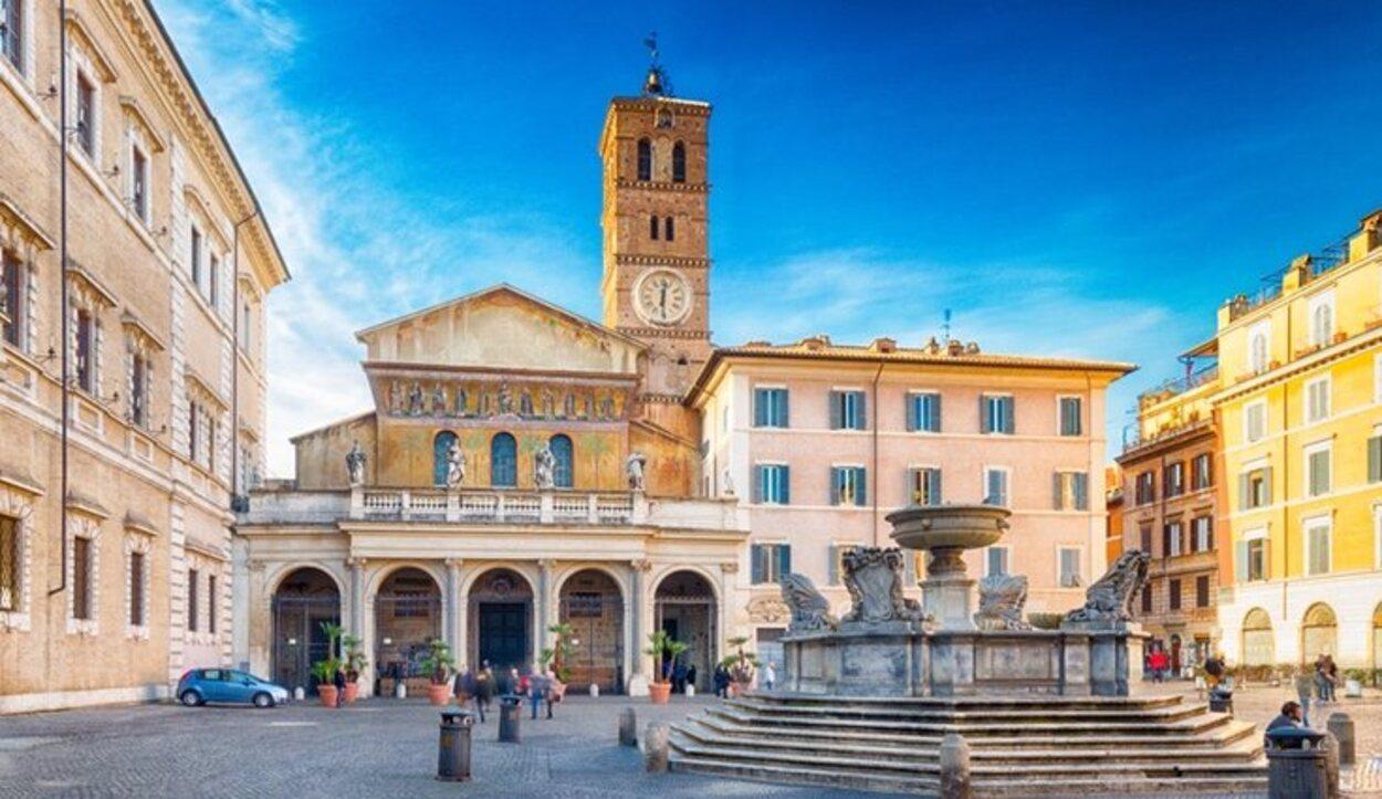 Piazza di Santa María in Trastevere en Roma