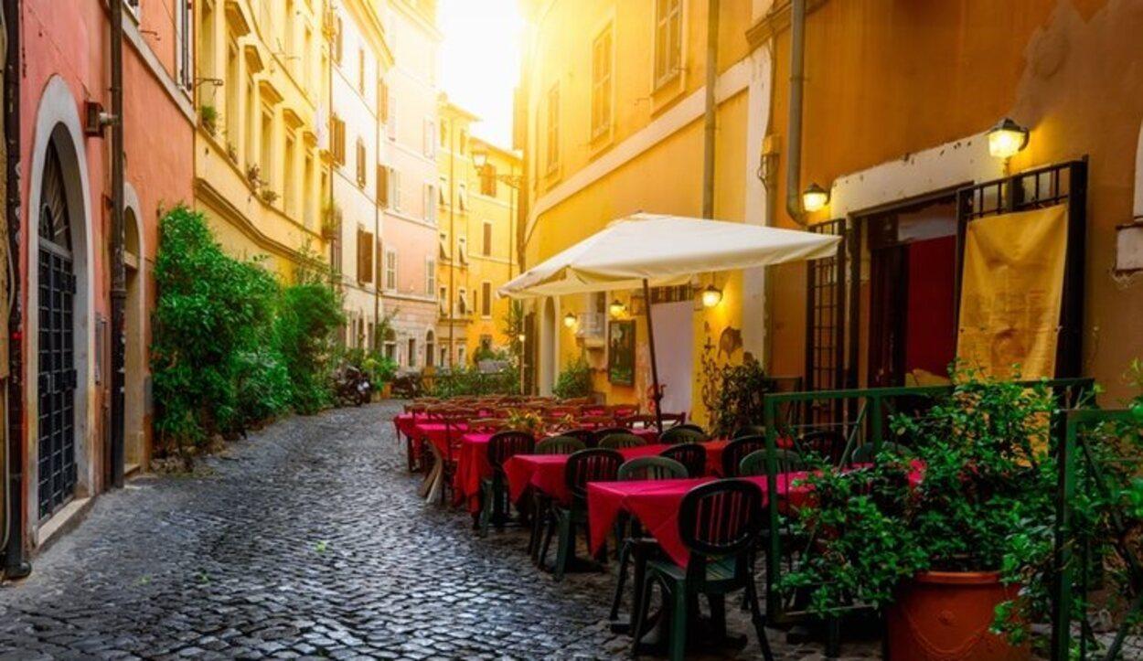 Cada rincón del barrio de Trastevere está llena de terrazas encantadoras