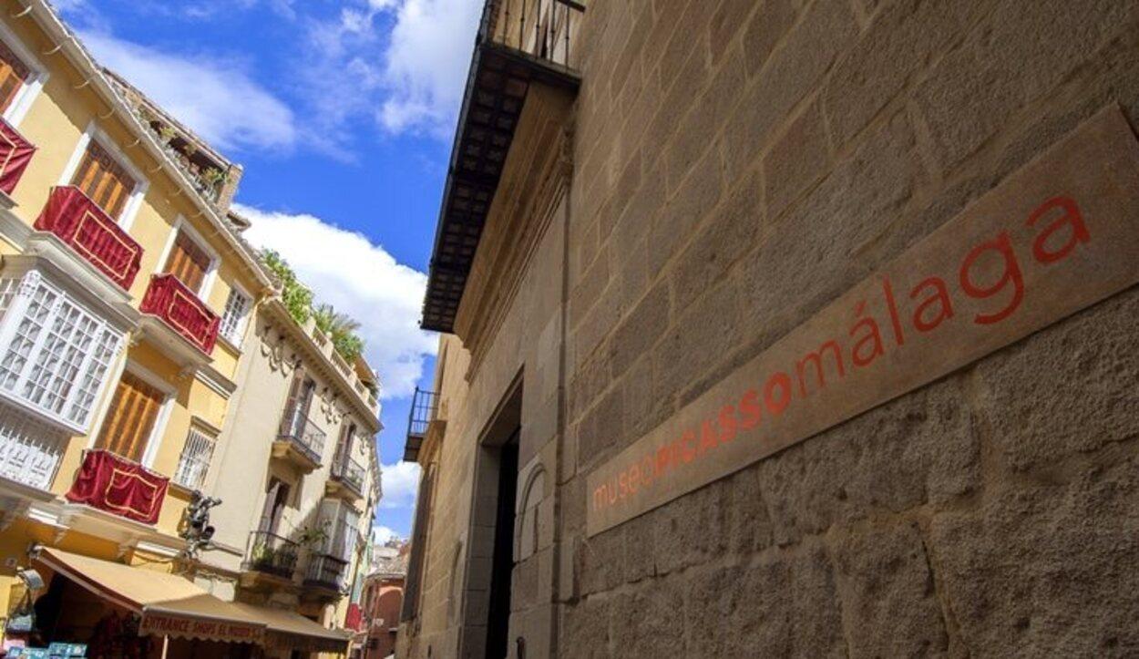 El exterior del Museo Picasso en el Palacio de Buenavista