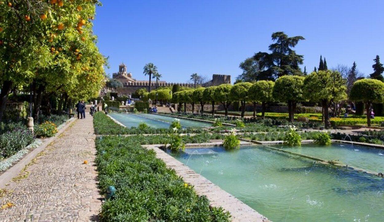 Los jardínes del Alcázar de los Reyes Cristianos