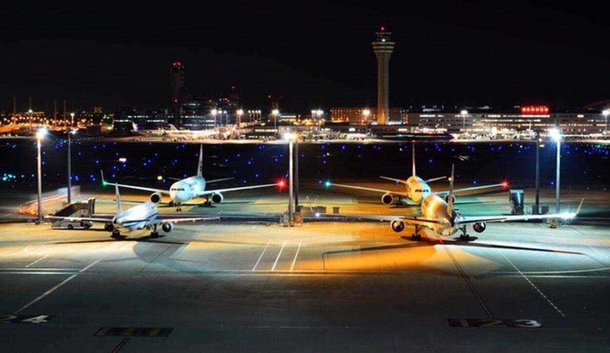 En una de sus azoteas se puedever una visión panorámica de toda la flota de aviones