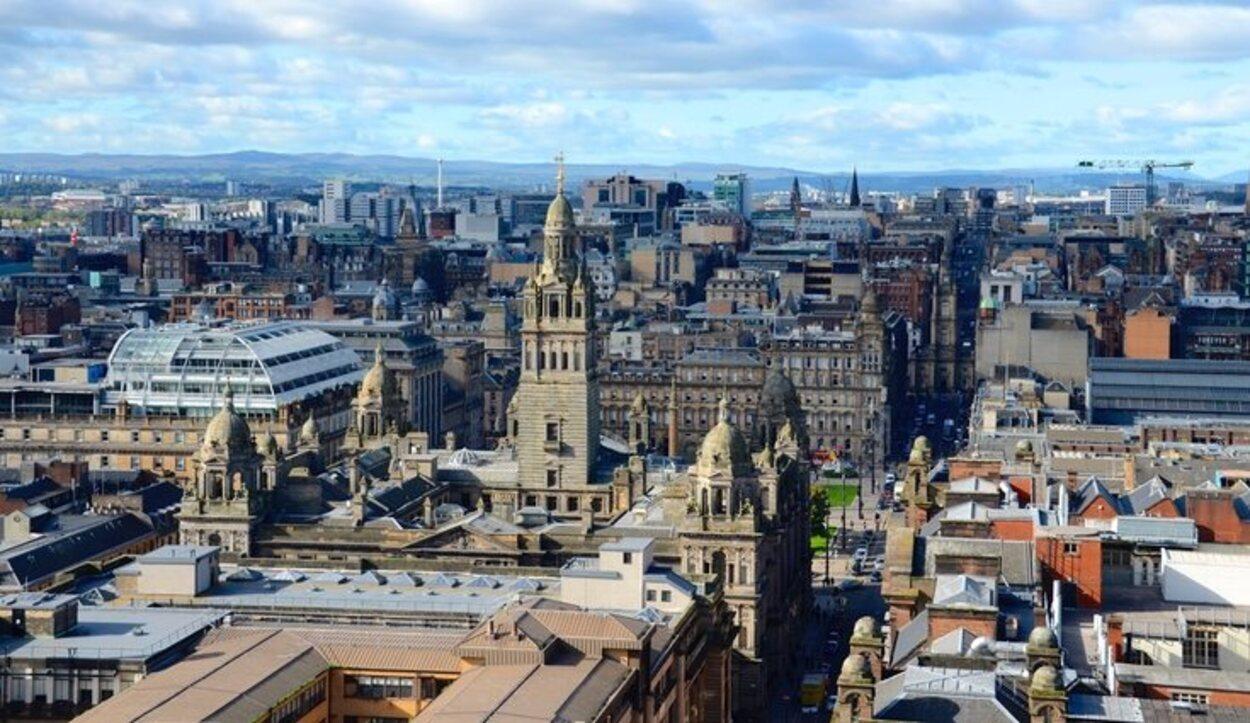 Las Glasgow City Chambers desde el aire