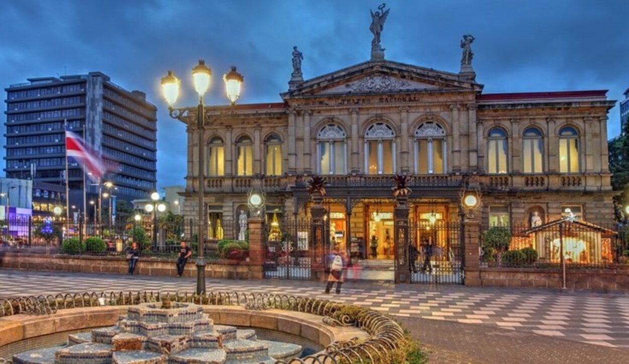 El Teatro Nacional de Costa Rica en San José