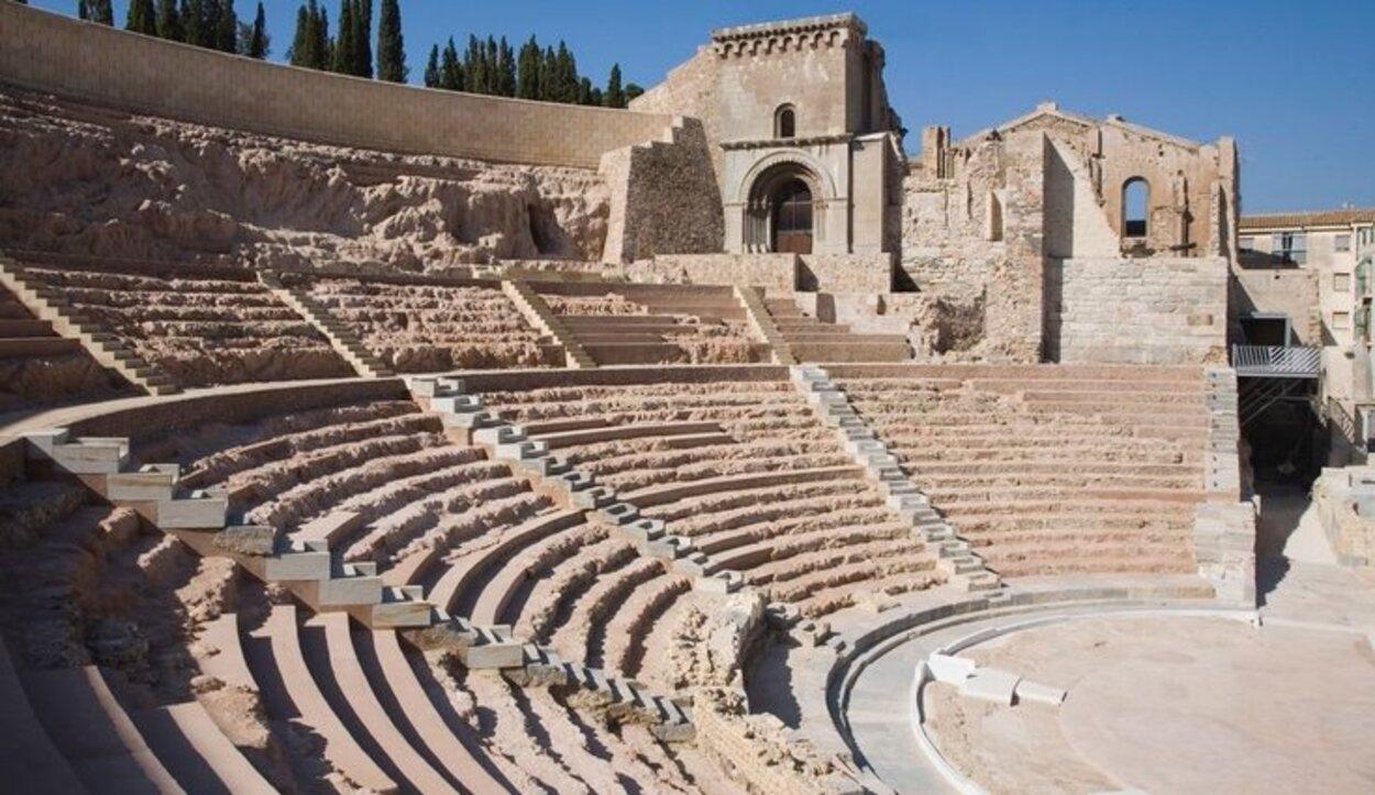 El anfiteatro romano está dentro del barrio del Foro Romano / Ayuntamiento de Cartagena