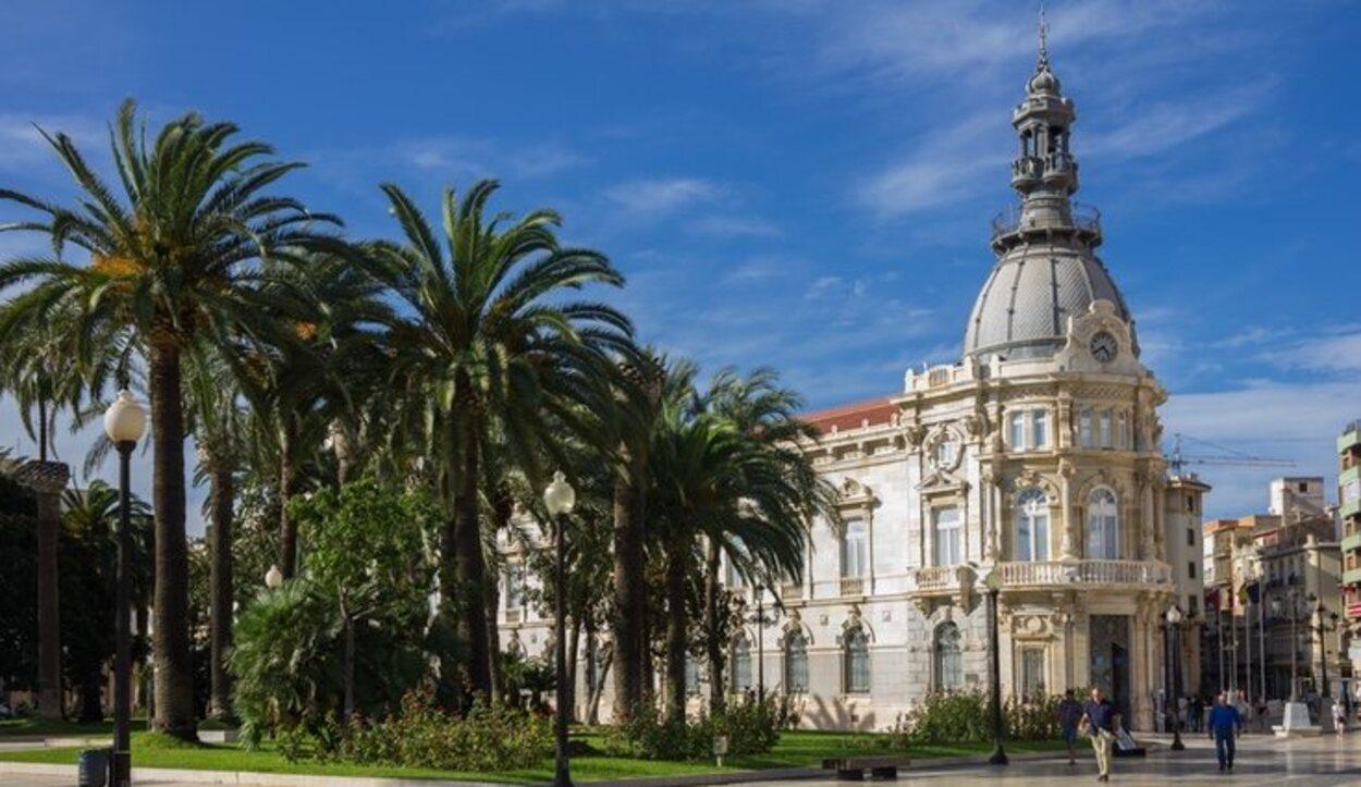 Paseo y plaza del Ayuntamiento de Cartagena