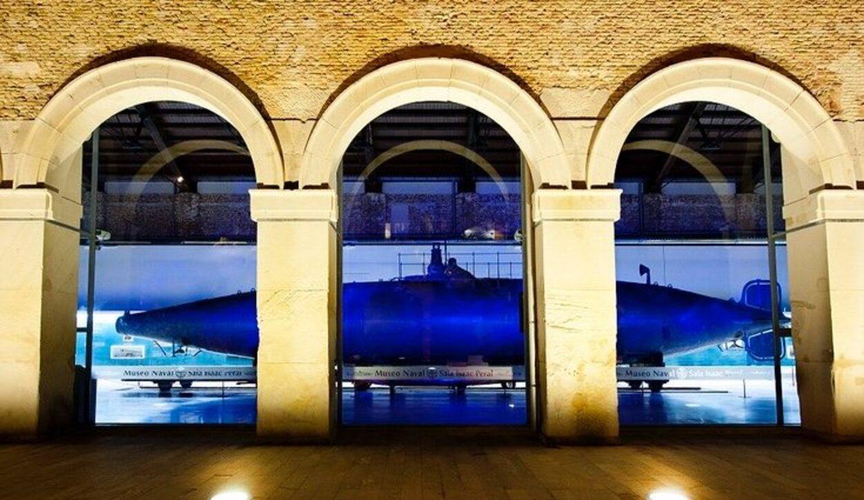 Dentro del Museo Naval se encuentra el primer submarino de la historia, invento del cartagenero Isaac peral / Ayuntamiento de Cartagena