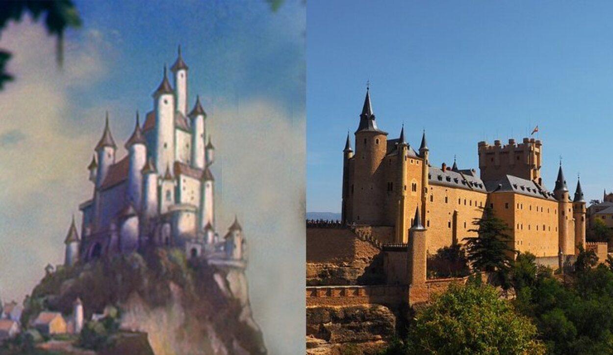 El castillo de la malvada madrastra está inspirado en el Alcázar de Segovia