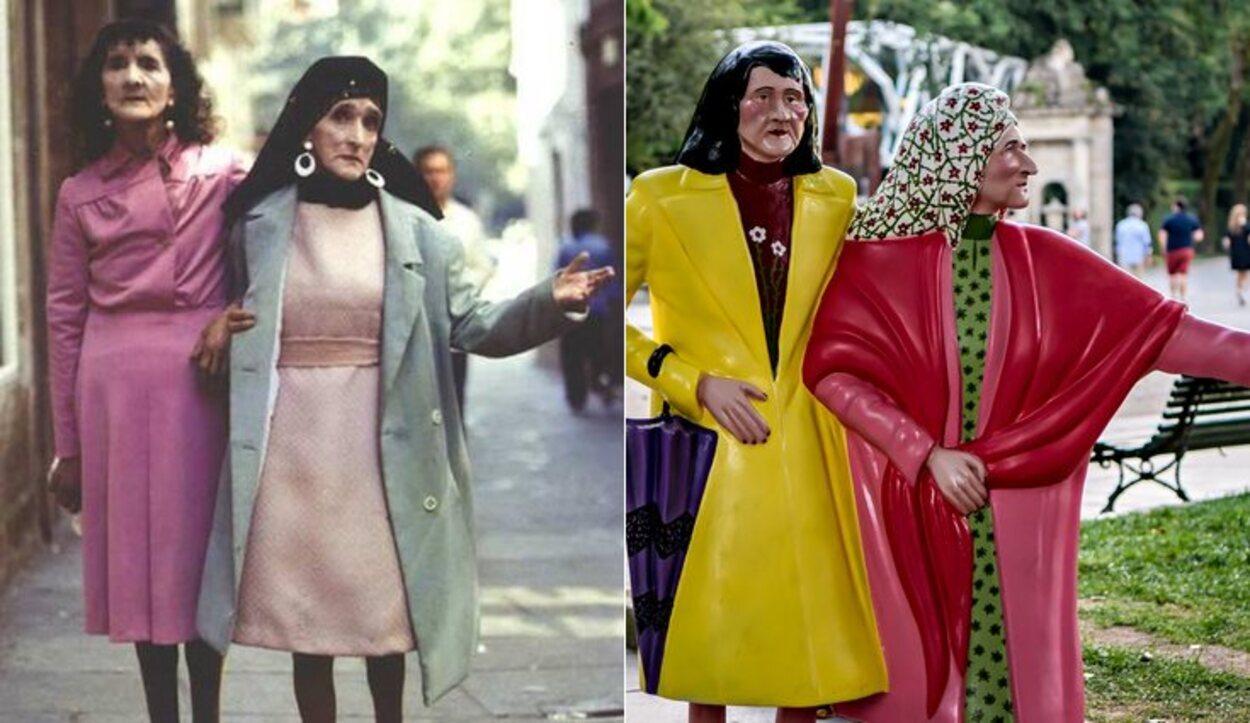 Las Dos Marías son un personaje emblemático de Santiago