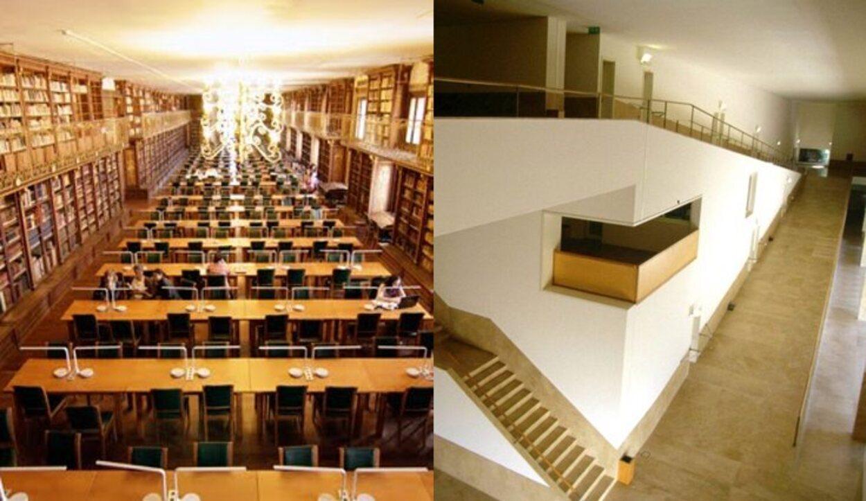 Izq.: Biblioteca de Historia / Dcha.: F. de Ciencias de la Comunicación