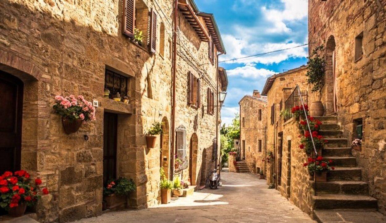 Las calles de la Toscana, Italia