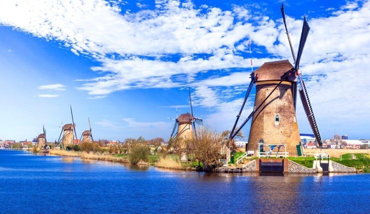 Los Molinos de Kinderdijk es una de las destinaciones más populares