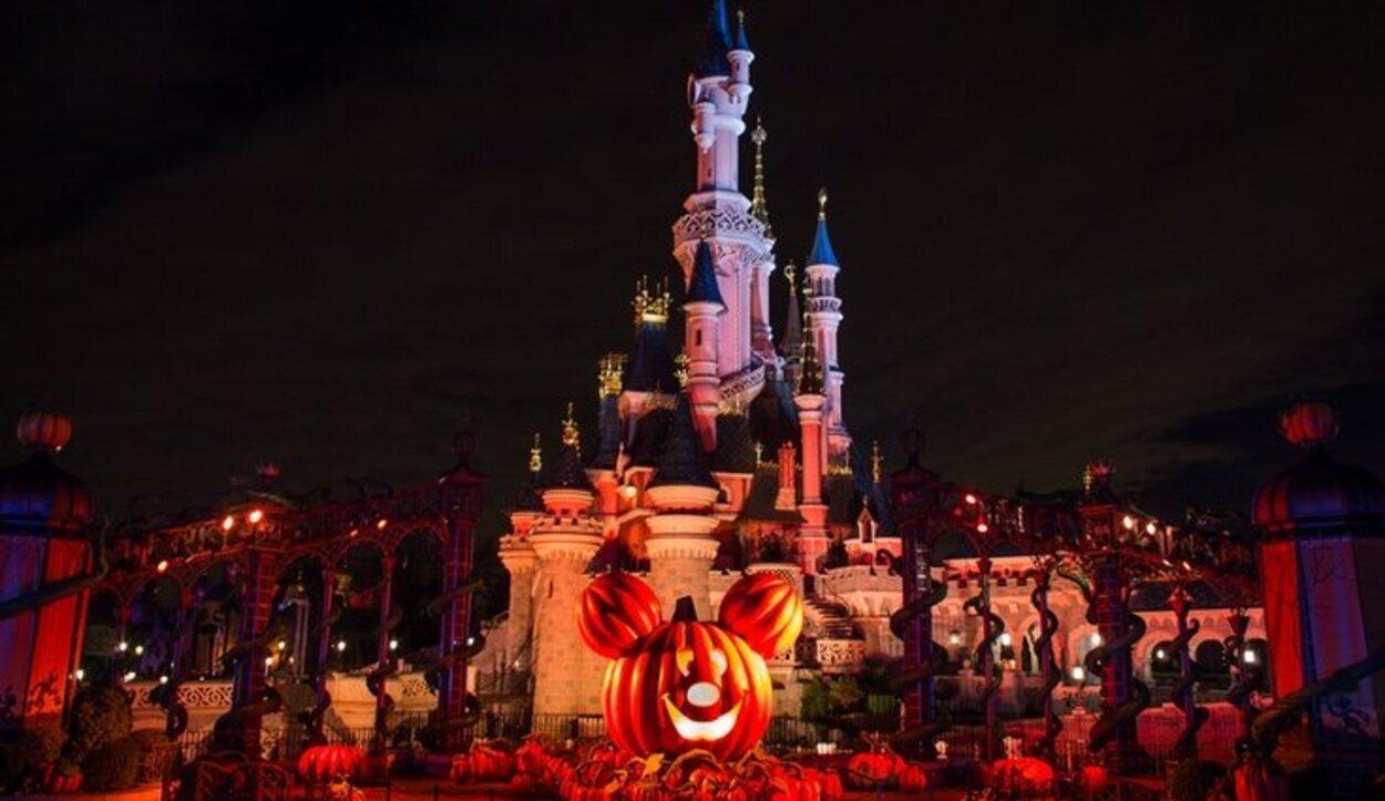 El parque ambientado para Halloween
