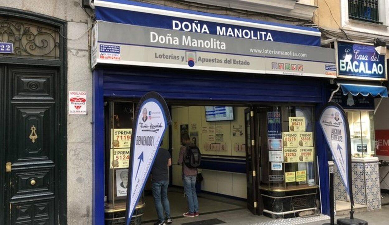 La larga cola de Doña Manolita es una tradición