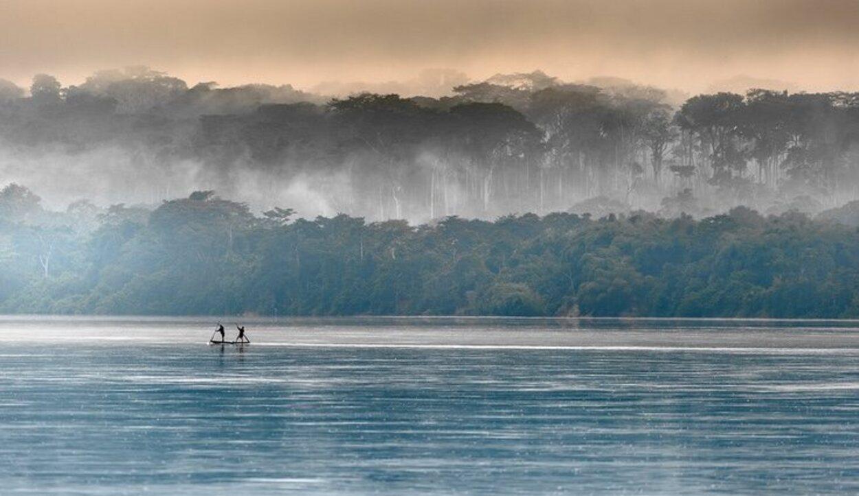 Río Sangha en el Congo